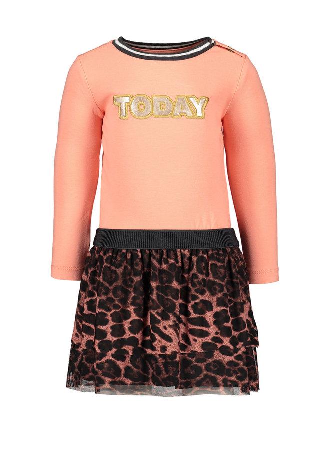 Longsleeve Dress AO Mesh Skirt - Old Pink