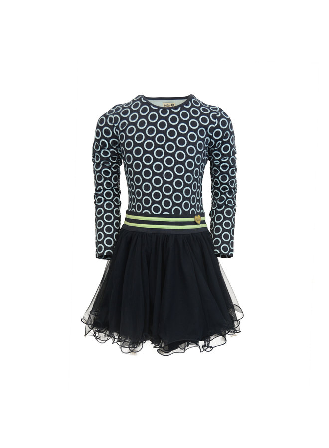 Dress Dance With Me - Dark Blue Cricle
