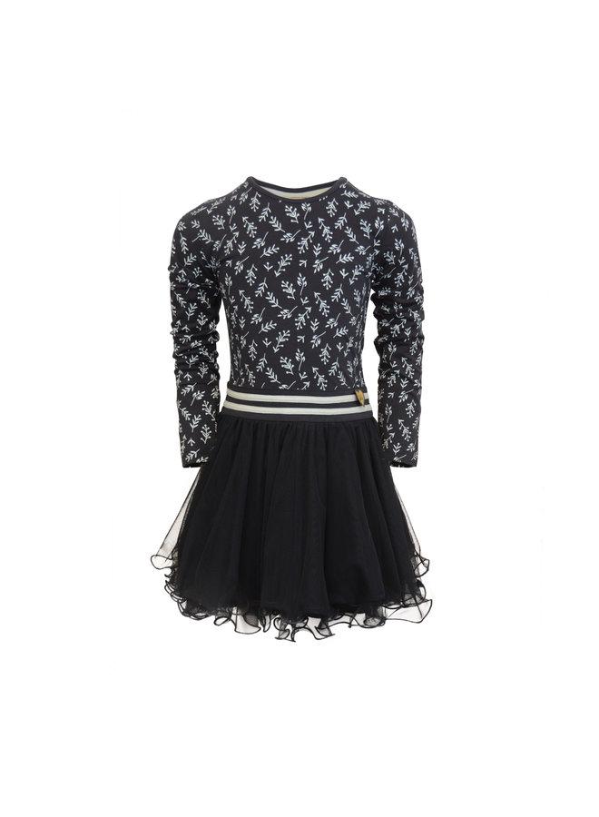 Dress Dance With Me - Dark Blue Leaf