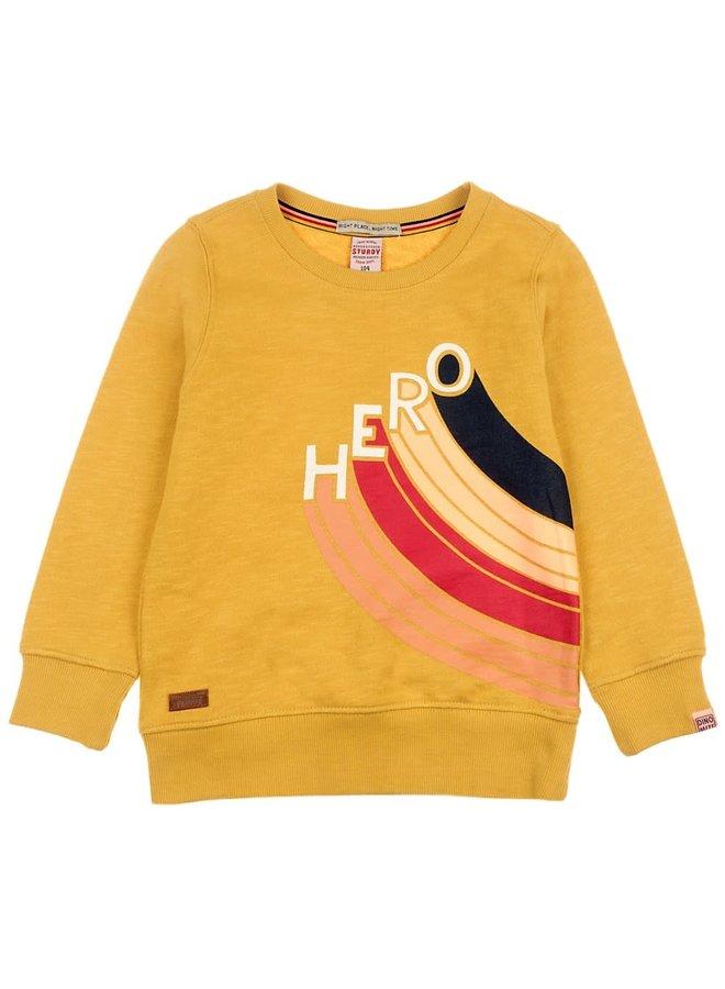 Sweater Hero Geel - Dino-Mite