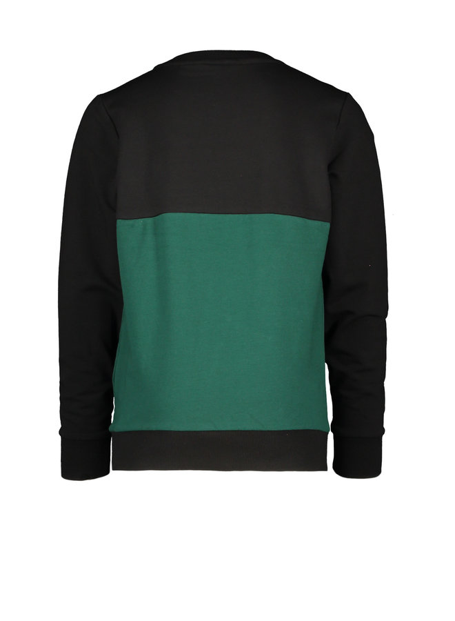 Sweater With Cut & Sewn - Black