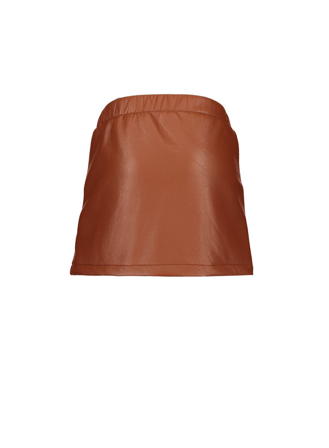PU Skirt - Rust