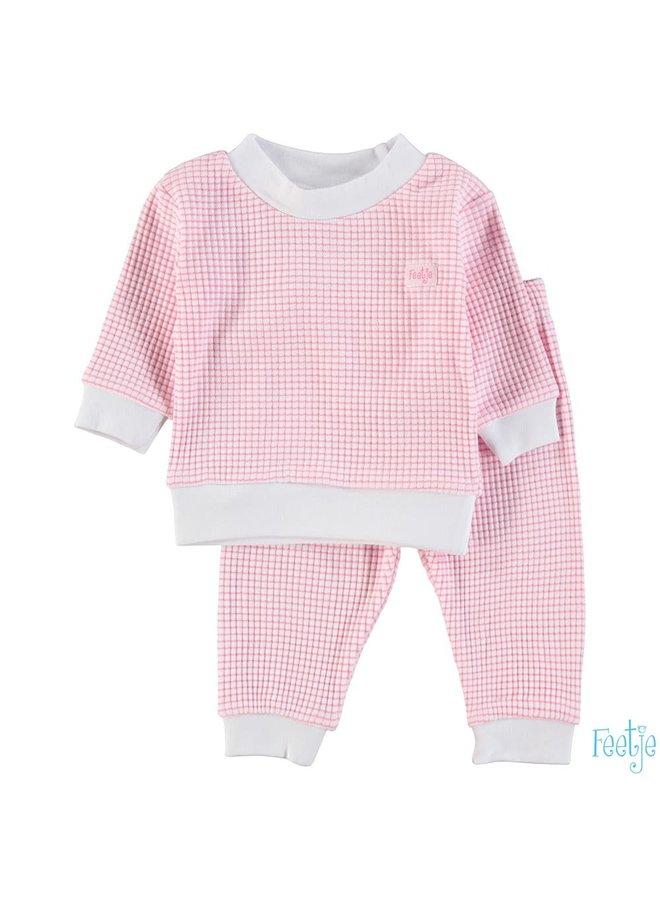 Feetje-Baby Pyjama Wafel - Roze