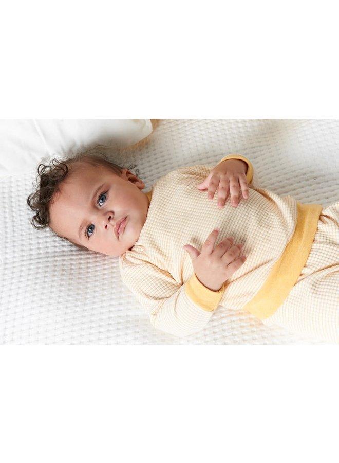 Feetje-Baby Pyjama Wafel - Okergeel