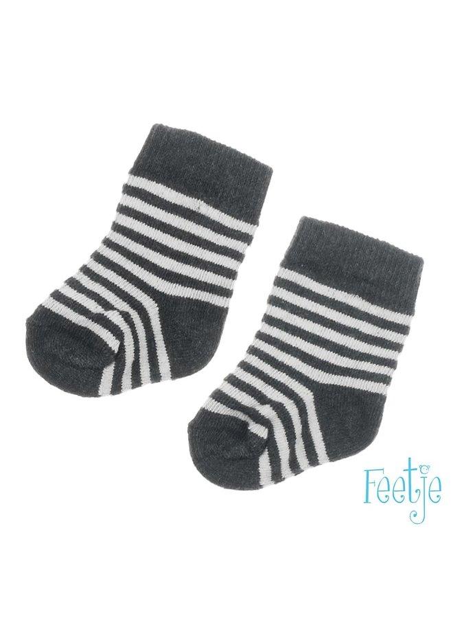 Feetje-Sok Antraciet Melange - Mini Person