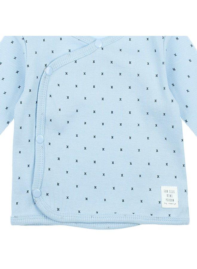 Feetje-Omslagshirt Blauw - Mini Person