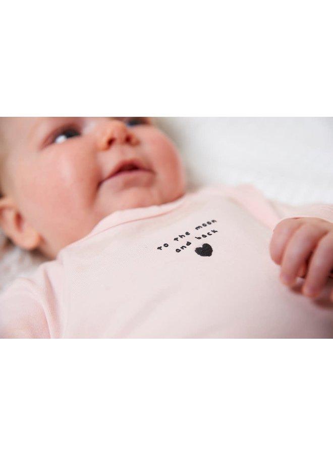 Feetje - Longsleeve I Love You Roze - Dots