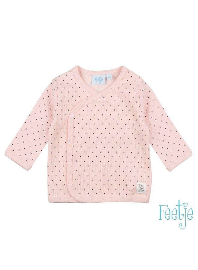 Feetje-Omslagshirt Roze - Dots