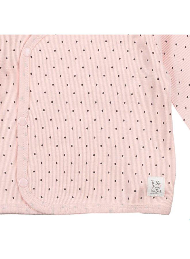 Omslagshirt Roze - Dots