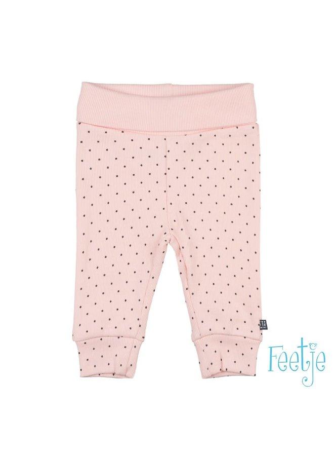 Feetje-Broek AOP Roze - Dots