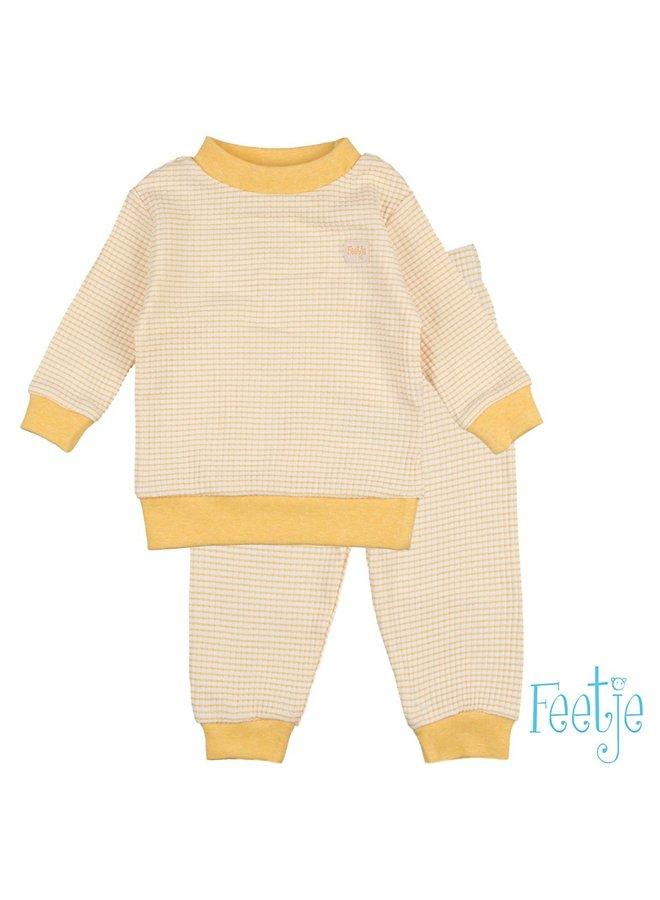 Feetje-Pyjama Wafel - Okergeel