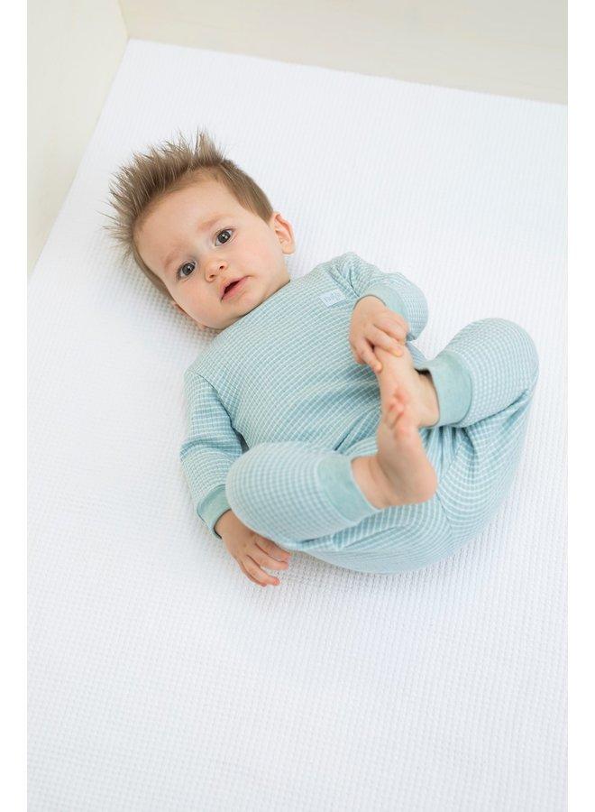 Feetje-Pyjama Wafel - Groen Melange