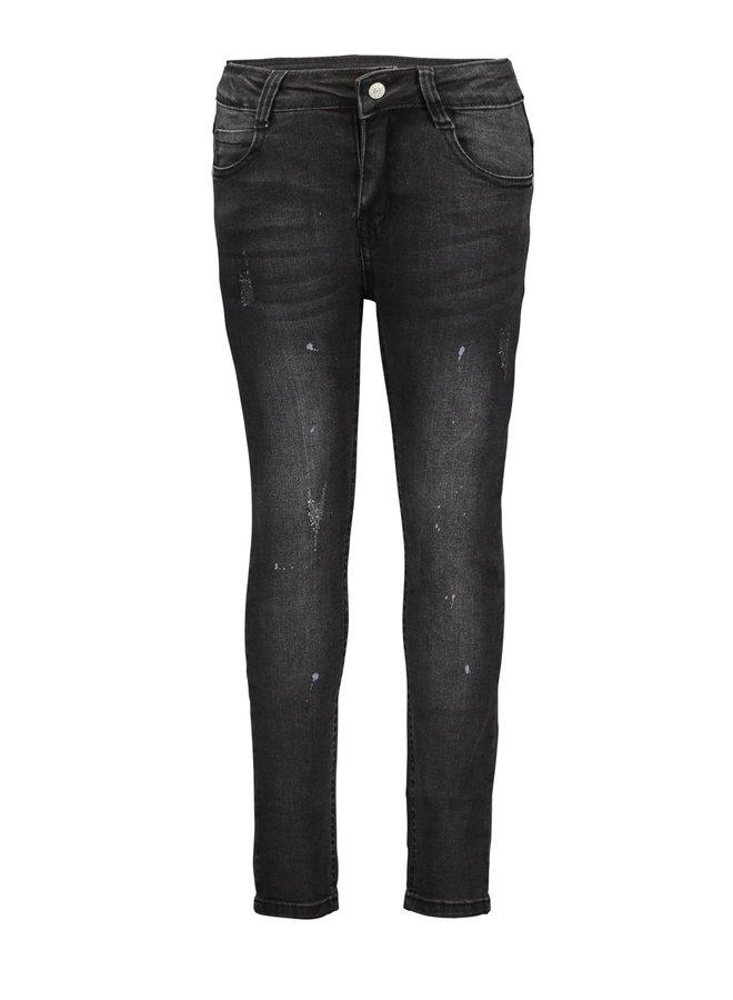 Denim Pants Damages Effect - Black Denim