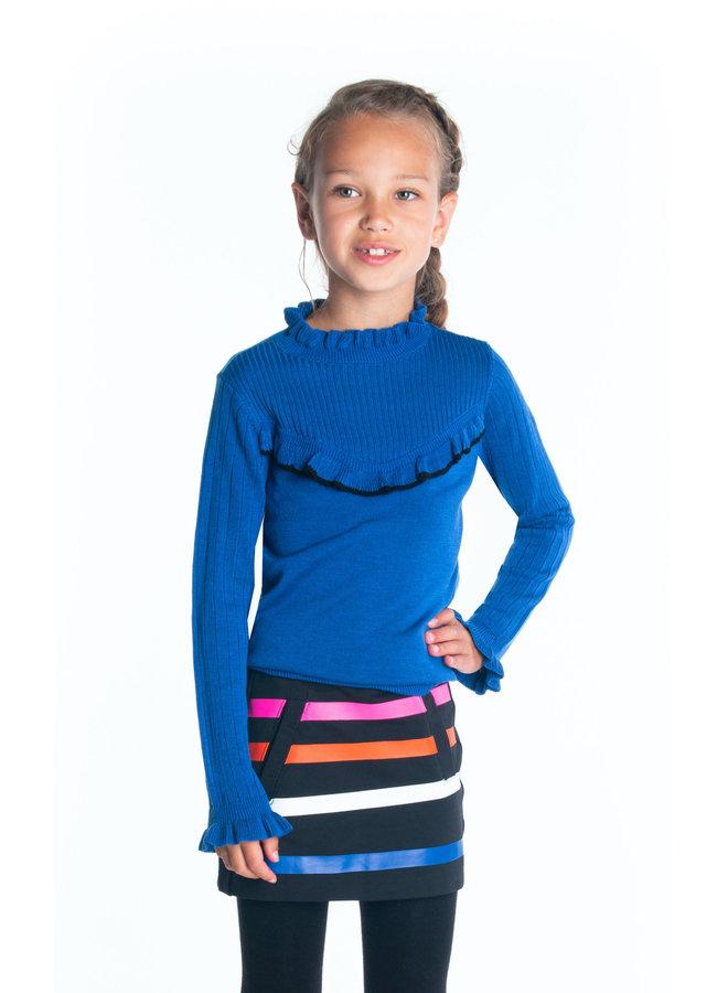 Sweat Skirt Printed Stripes - Black