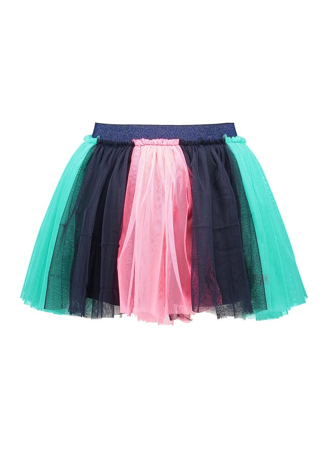 Skirt Colored Strokes - Oxford Blue