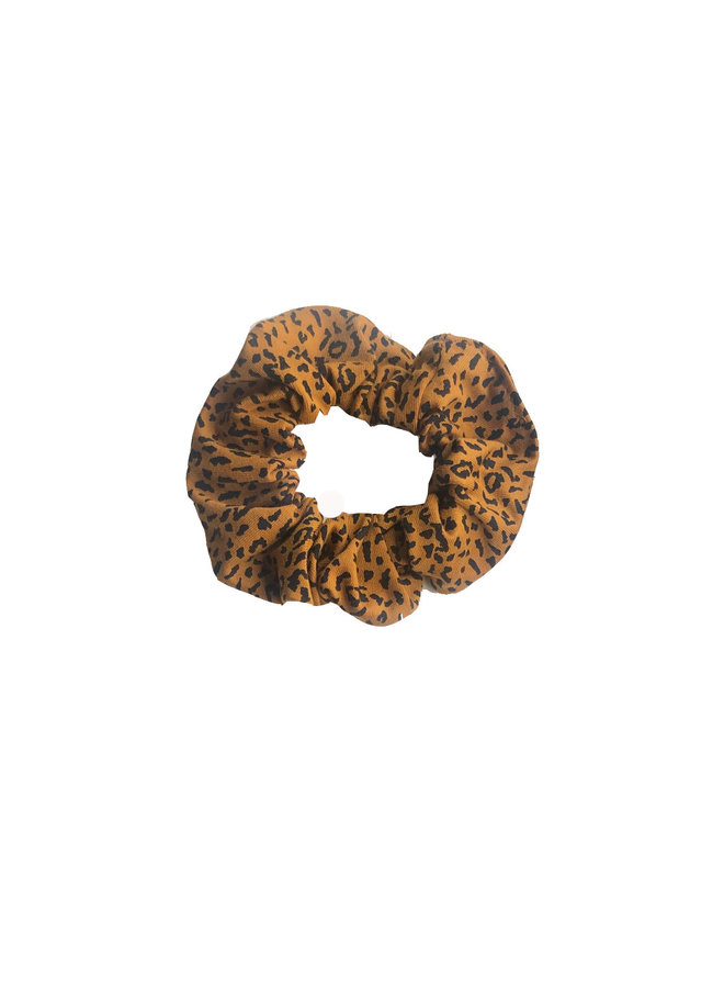 Scrunchie - AOP Leopard Brown