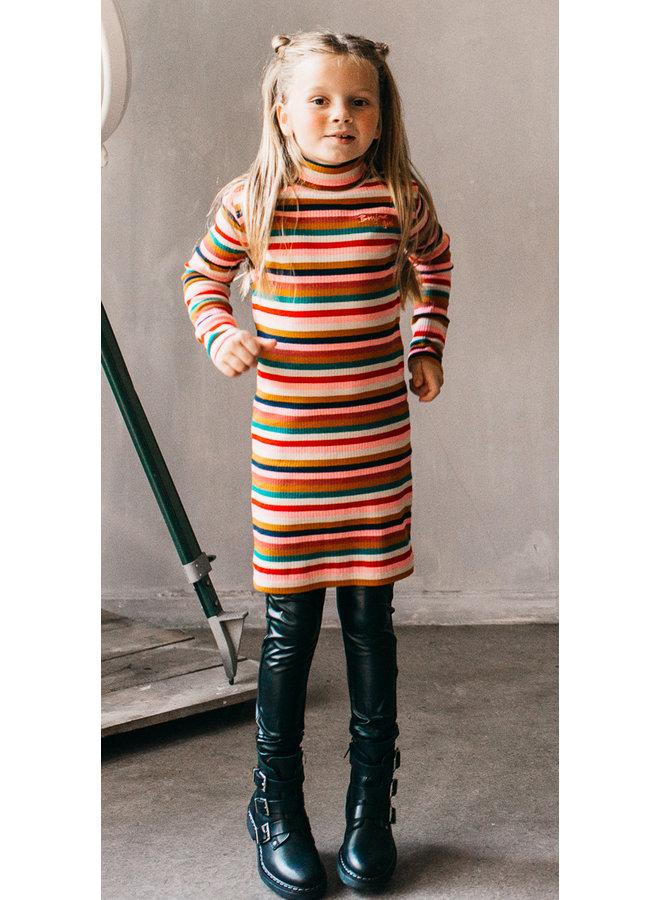 Aneli Dress Col - Rib Multicolour