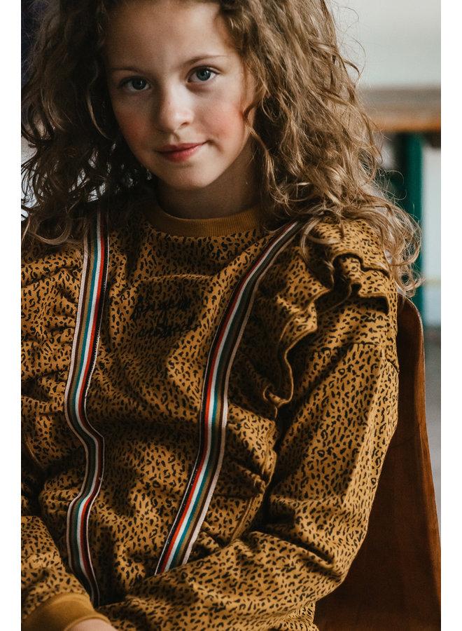 Astrid Sweater - AOP Leopard Brown