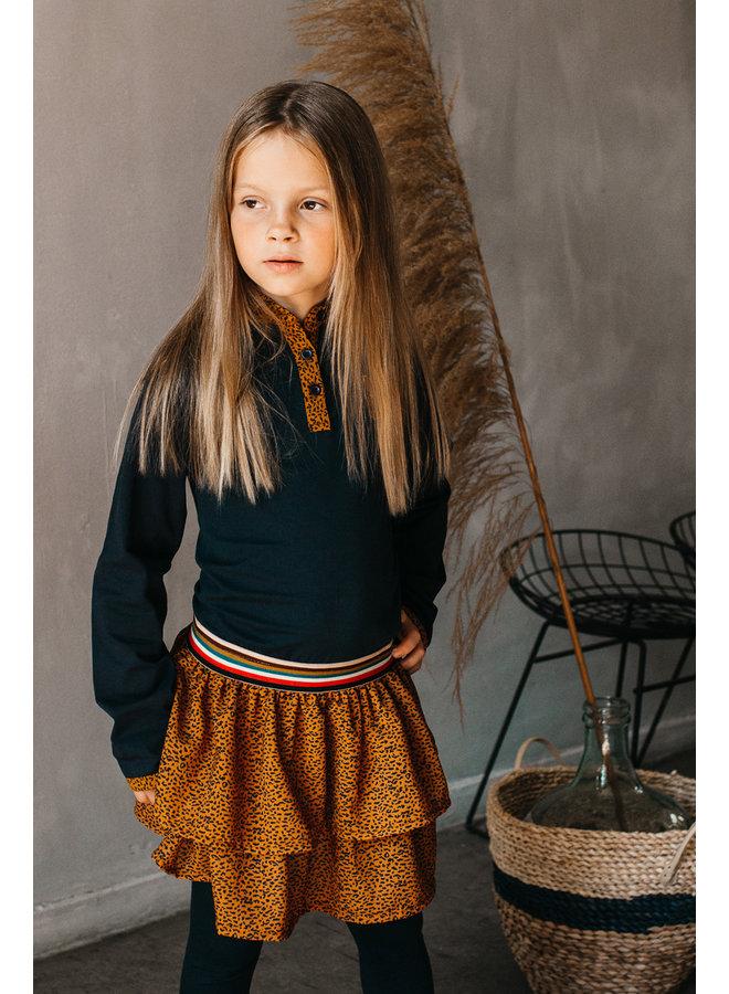 Aukje Dress - AOP Leopard Brown