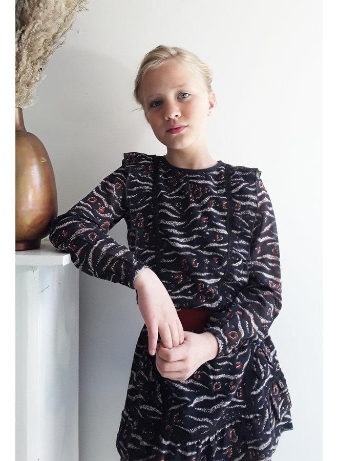 Bella Dress - AOP Wave