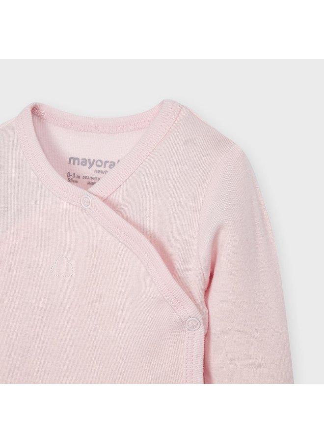 Overslag Romper Lange Mouw Roze