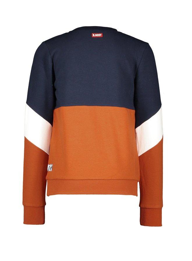 Sweater Artwork On Chest - Cognac