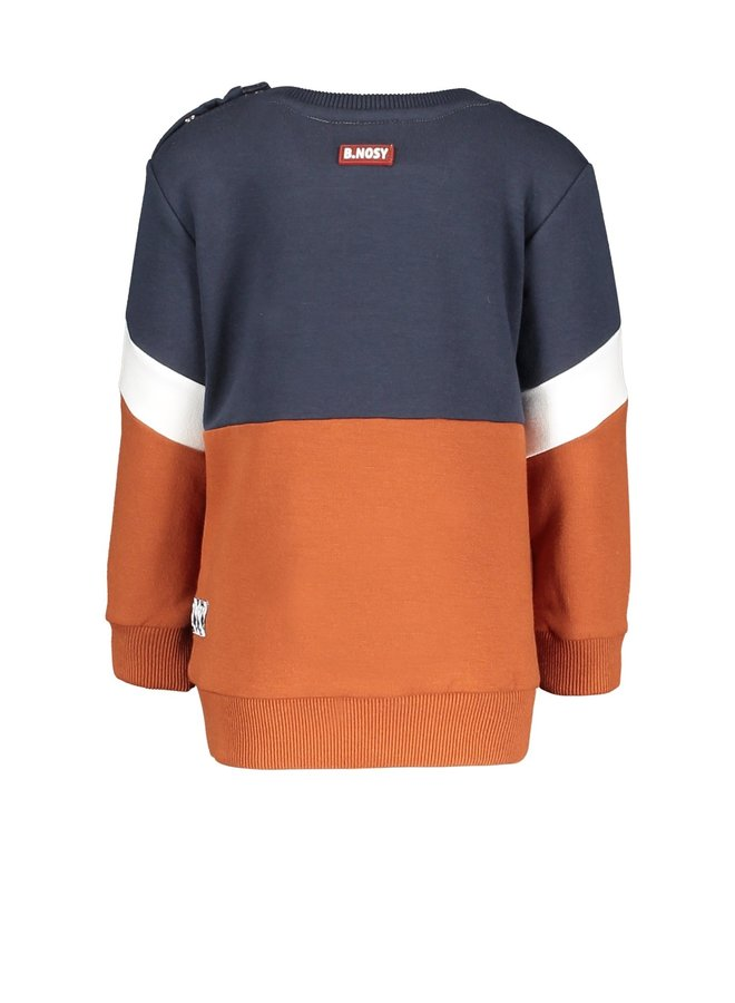 Sweater Cut And Sew With Frotté Artwork - Cognac