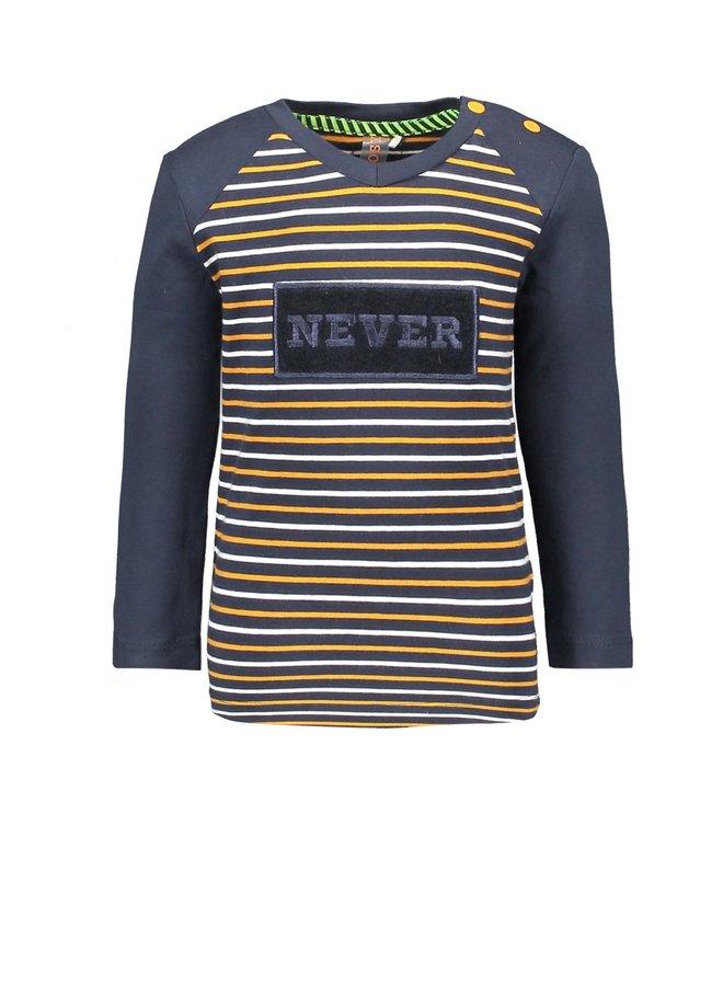 Shirt Special Artwork On Chest - Oak Stripe