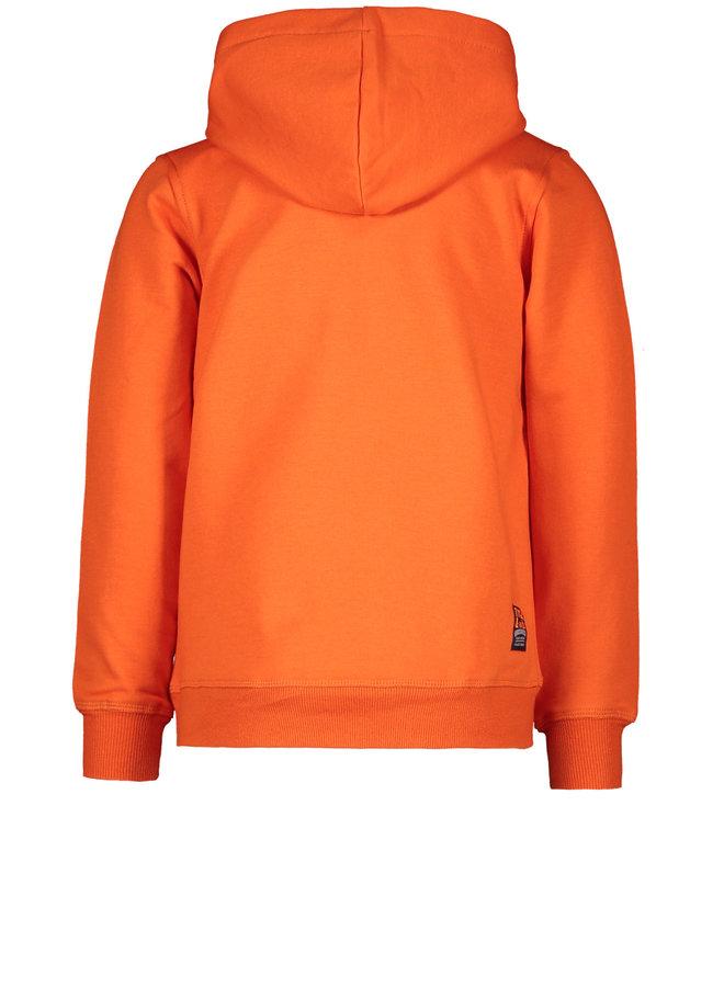 Hoodie Fake Anorak - Dark Orange