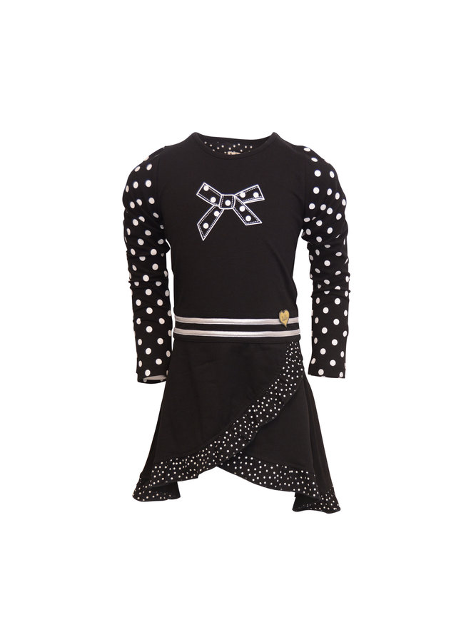 Dress Salsa - Black Dot Small