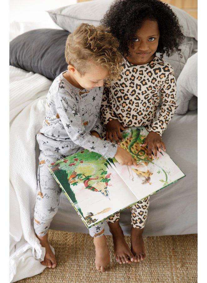 Feetje-Pyjama Roar Riley Grijs Melange