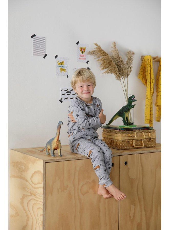 Pyjama Roar Riley Grijs Melange