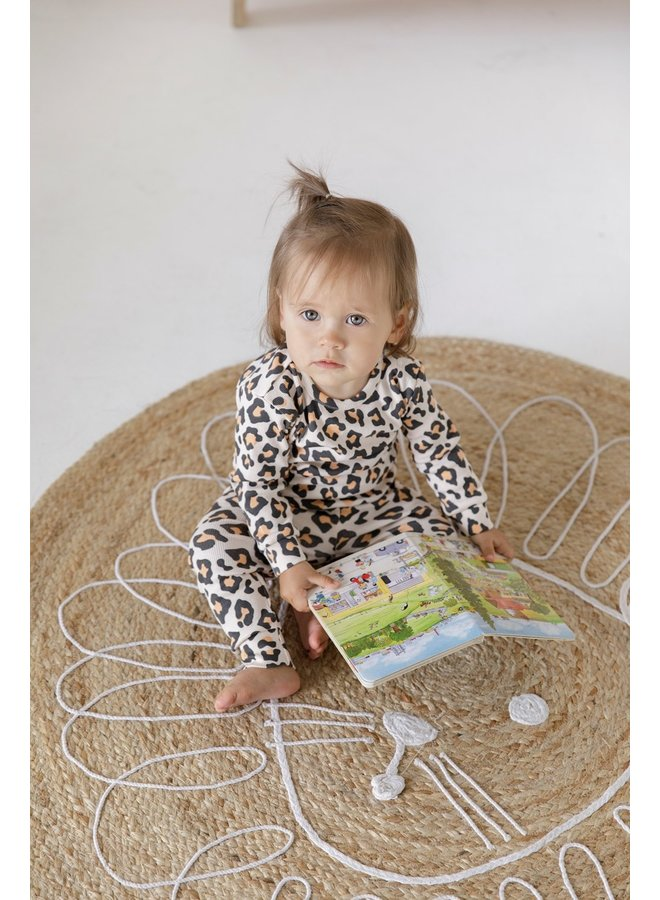 Feetje-Pyjama Leopard Lou Perzik