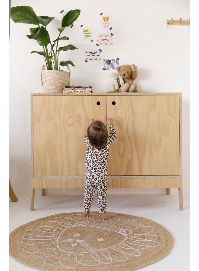 Feetje-Baby Pyjama Leopard Lou Perzik