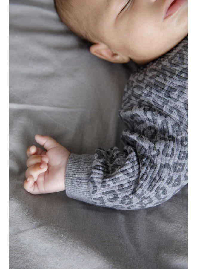 Feetje-Baby Pyjama Wafel - Panter Antraciet Fashion Edition