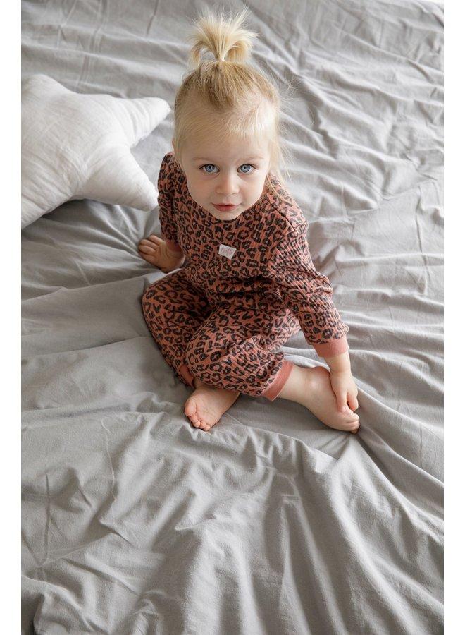 Feetje-Baby Pyjama Wafel - Panter Terra Pink Fashion Edition
