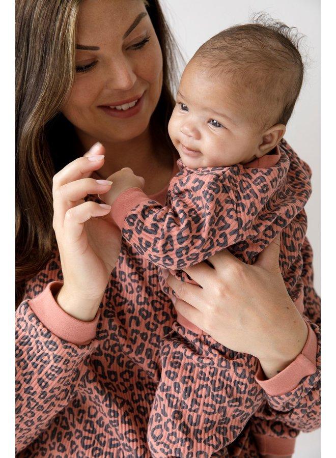 Baby Pyjama Wafel - Panter Terra Pink Fashion Edition