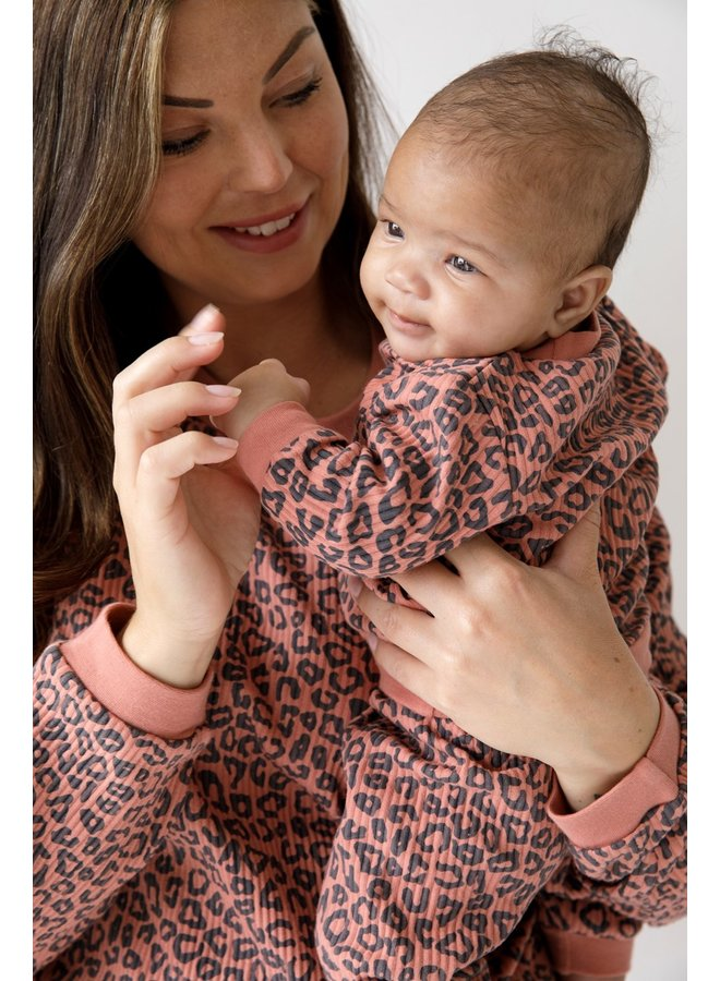 Volwassen Pyjama Wafel - Panter Terra Pink Fashion Edition
