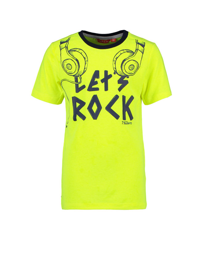 Tygo & vito - Neon Shirt Let's Rock - Safety Yellow