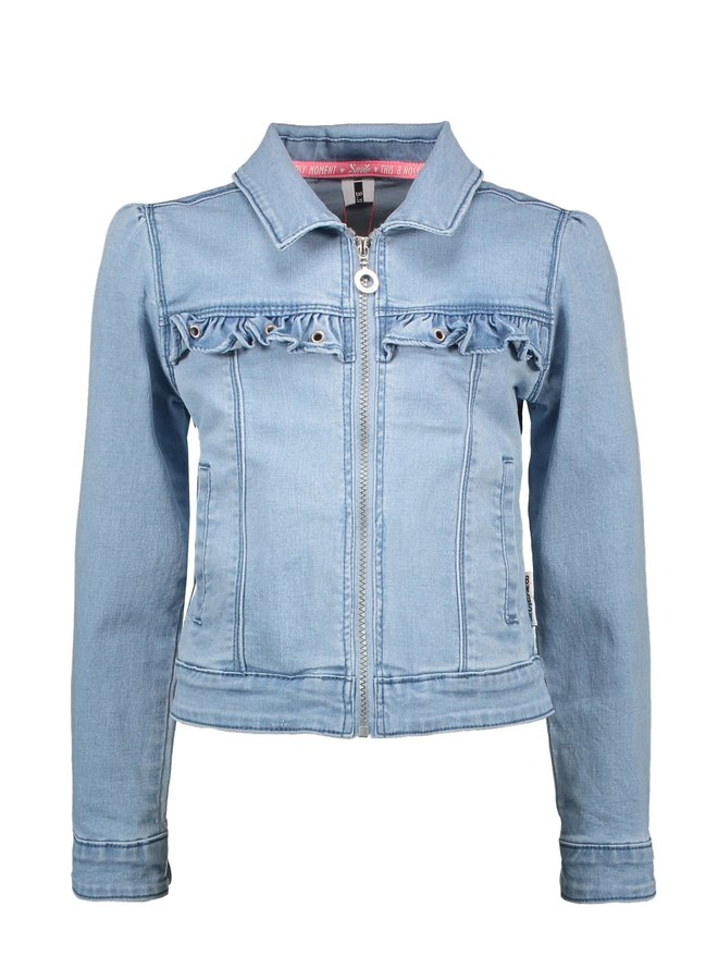 B.Nosy - Denim Jacket With Puff Shoulder And Ruffle - Free Denim