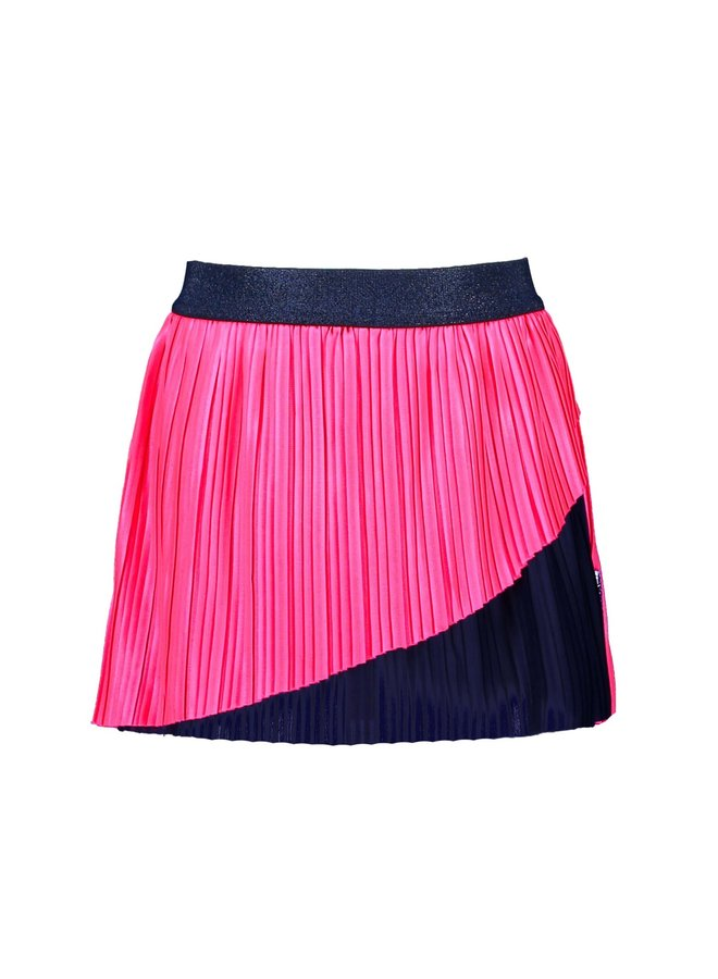 B.Nosy - Plisse Skirt With Front Part Double Layer - Knock Out Pink