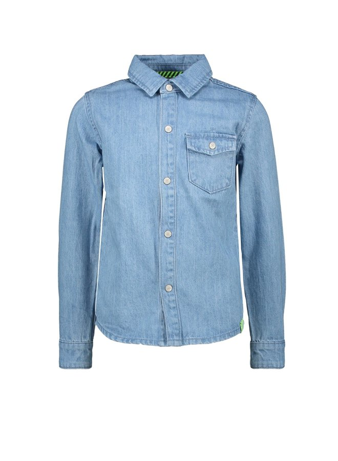 B.Nosy - Denim Blouse With Press Buttons - Free Denim