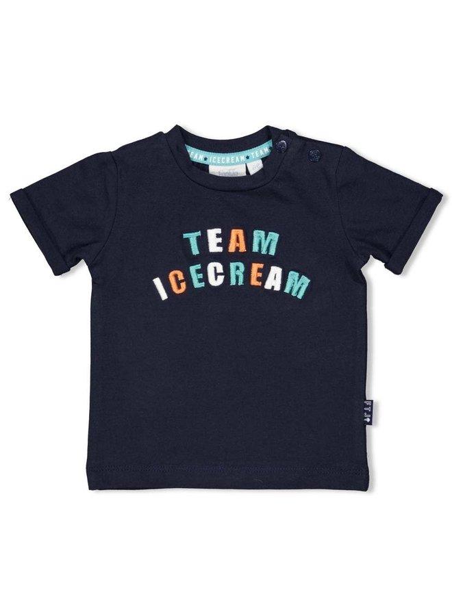Feetje - T-shirt Marine - Team Icecream