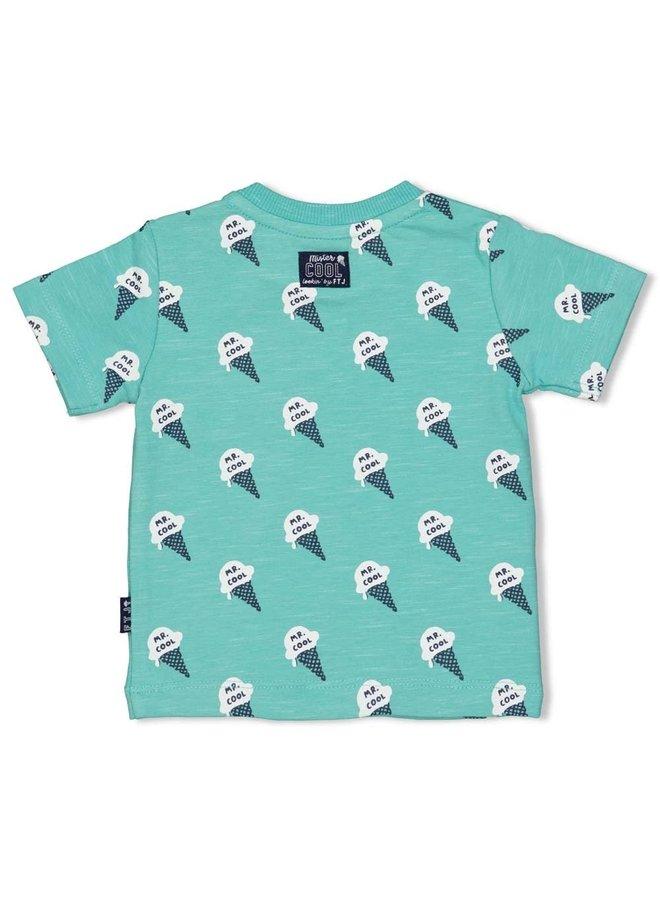Feetje - T-shirt AOP Mint Melange - Team Icecream