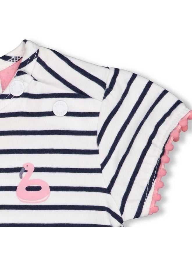 Feetje - T-shirt Streep Wit - Seaside Kisses