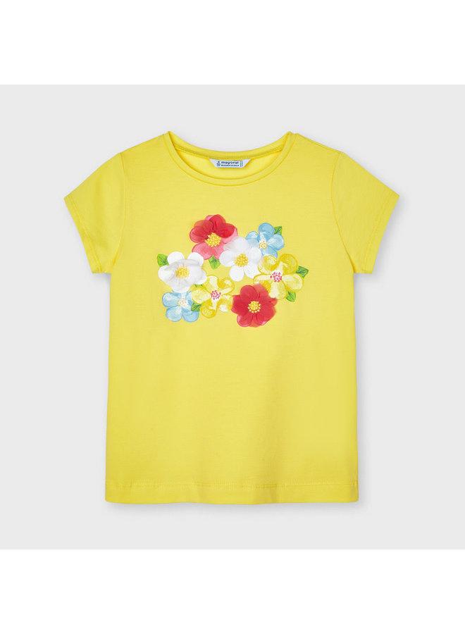 Mayoral - Shirt Flowers - Yellow
