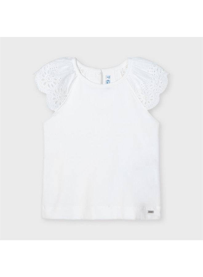 Mayoral - Sleeveless Shirt Lace - White