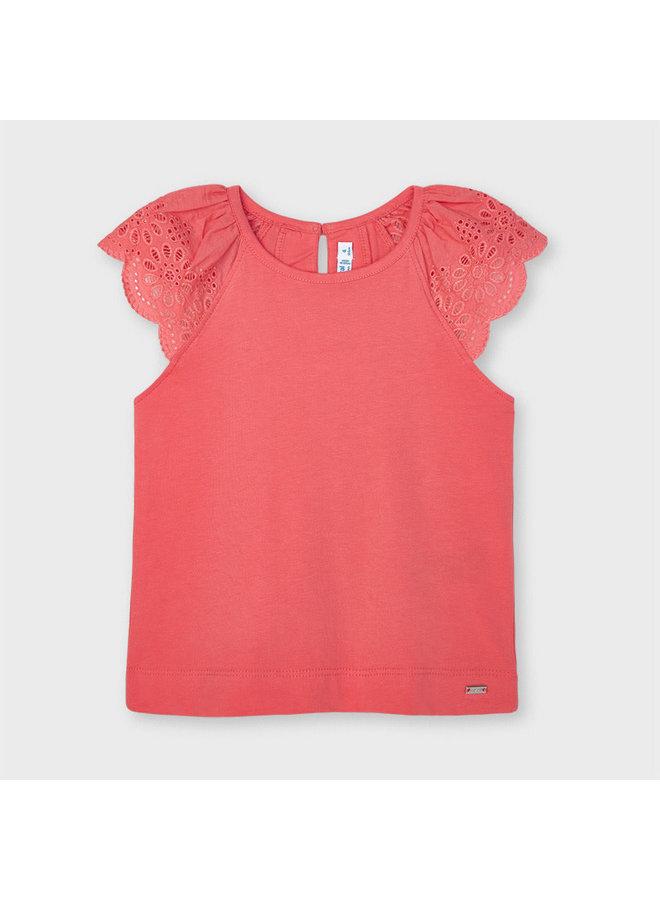 Mayoral - Sleeveless Shirt Lace - Coral