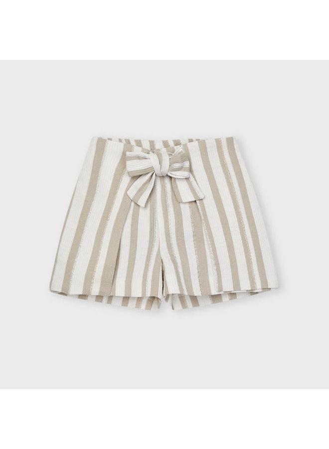 Mayoral - Striped Short Pant - Camel