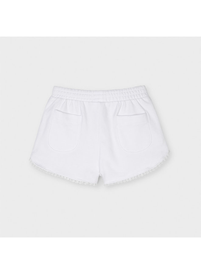 Mayoral - Chenille Shorts - White